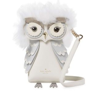 kate spade owl crossbody iphone case leather bag